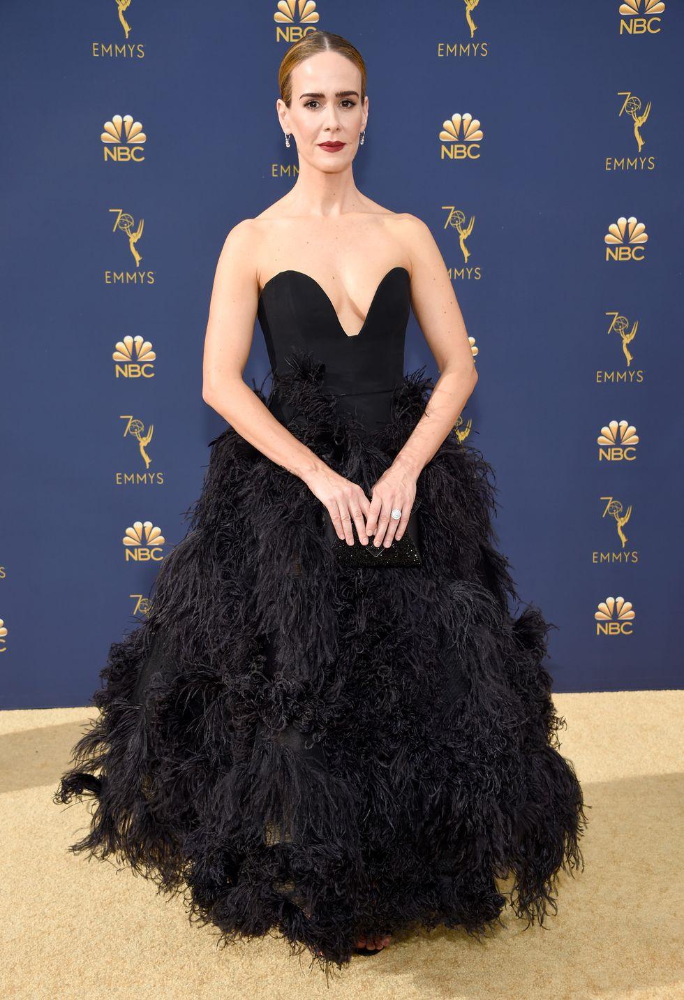 Sarah Paulson in Oscar de la Renta