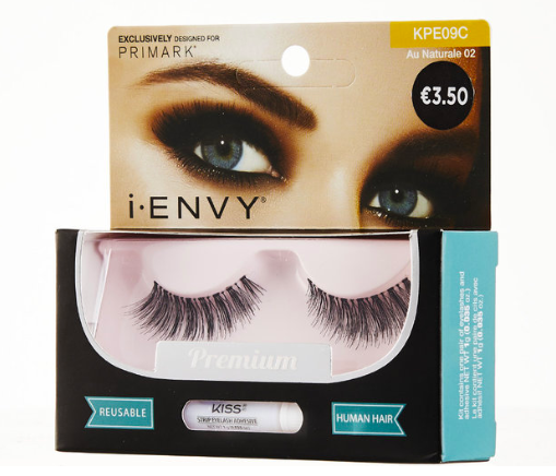 I-ENVY BY KISS AU NATURALE 01 & 02 (€3.50)  Your perfect everyday lash. This collection of wispy lashes is designed to blend with the curl of your natural lashes. The lash hair graduates from short to long creating a natural volume effect, and each feature a clear band (invisible to the eye) for that nothing-but-natural look!