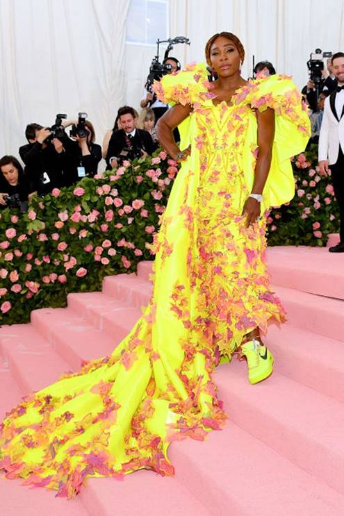 Serena Williams in Atelier Versace & Nike