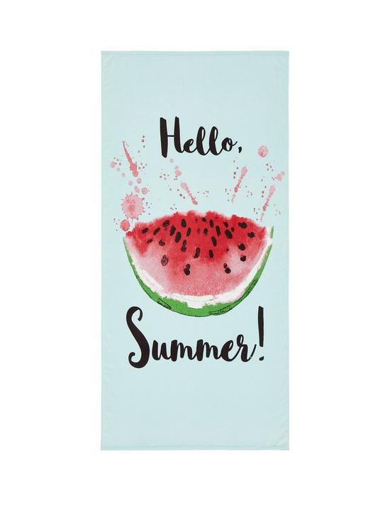 VERY WATERMELON BEACH TOWEL £12