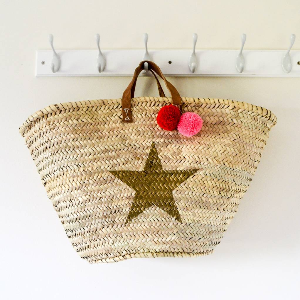 NOT ON THE HIGH STREET STRAW TOTE £41.60