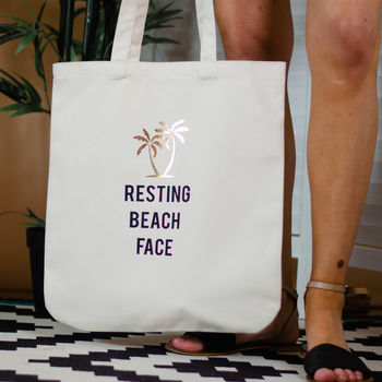 NOT ON THE HIGH STREET 'RESTING BEACH FACE' TOTE £19