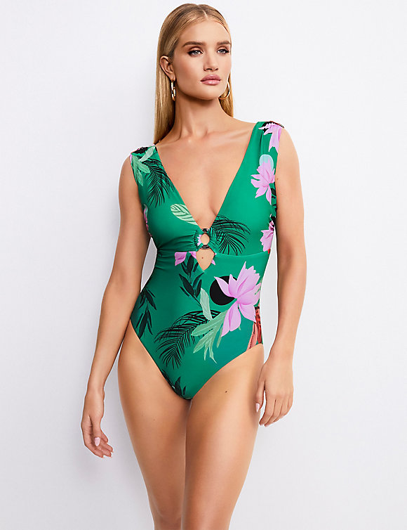 Secret Slimming Floral Print swimsuit M&S -£28 Rosie for Autograph