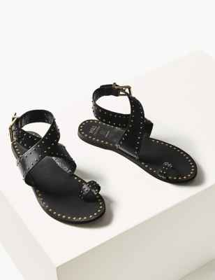 M&S leather studded sandal -£45
