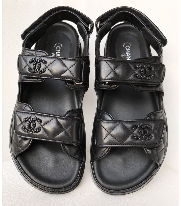 Chanel quilted 'Dad' sandal