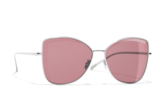 Chanel Butterfly Sunglasses with burgundy lenses -£330