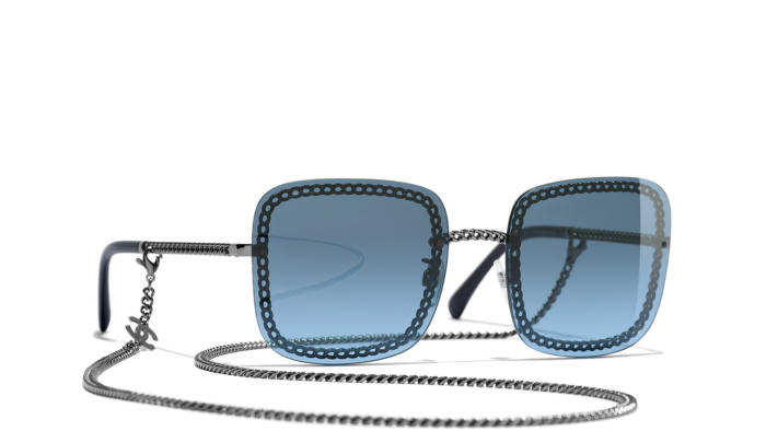 Chanel Square Sunglasses with blue gradient -£415