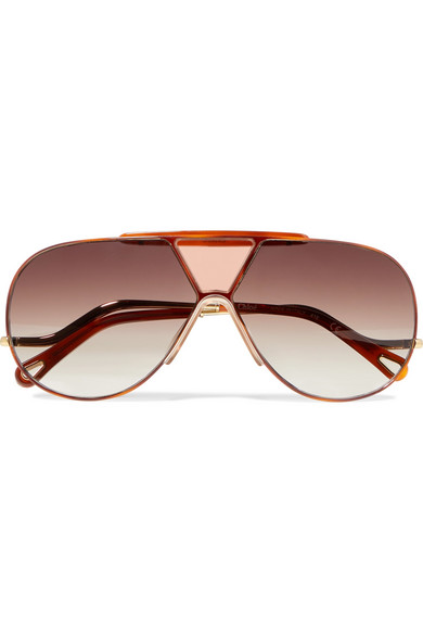 Chloe Willis aviator style gold tone sunglasses -£335