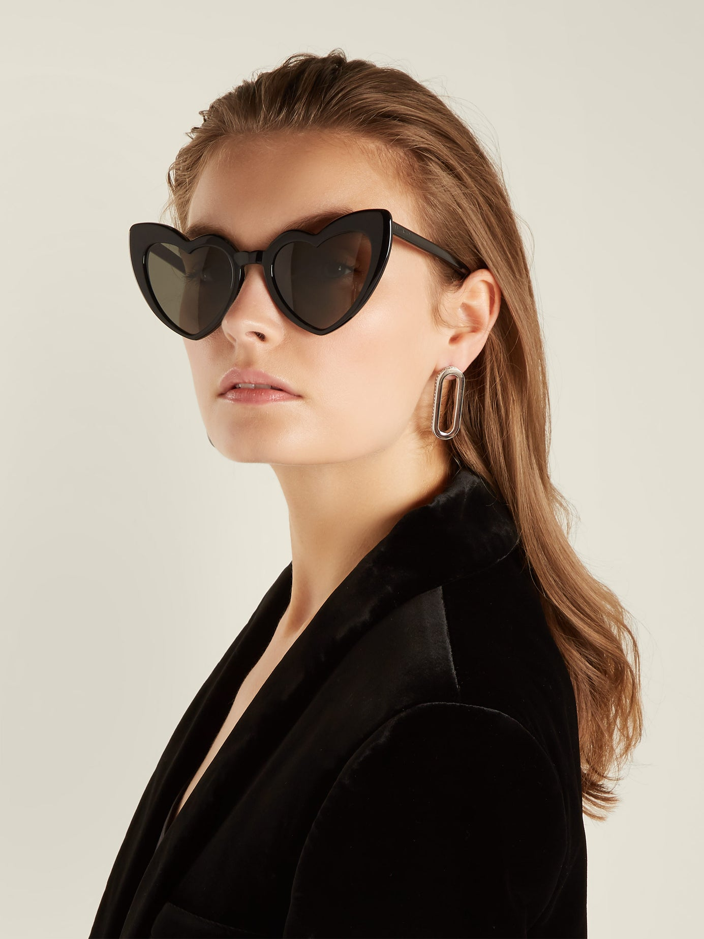 Saint Laurent Loulou heart shaped acetate sunglasses -£265