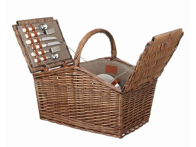 John Lewis Croft Collection picnic hamper -£90.