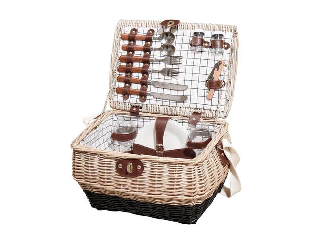 Personalised potbelly picnic hamper £89 NOTHS