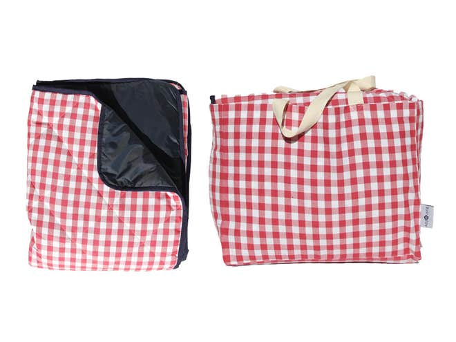 just a joy red gingham padded picnic rug £49.50 NOTHS