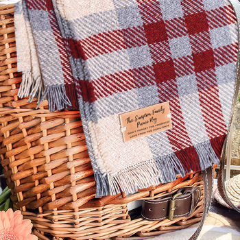Personalised picnic rug £58 NOTHS