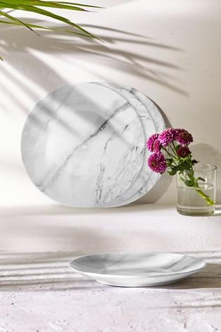 "4 marble melamine plates Next ""£12"