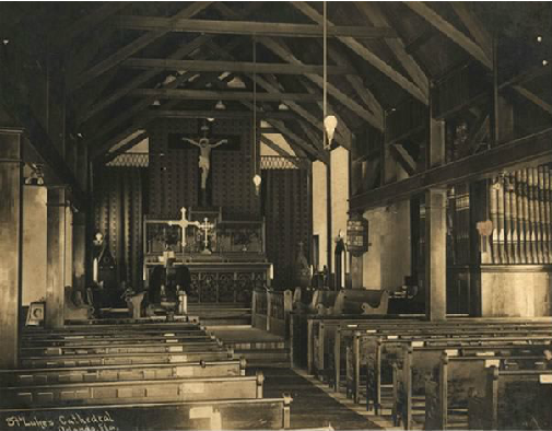 Interior view of the Cathedral in 1910.
