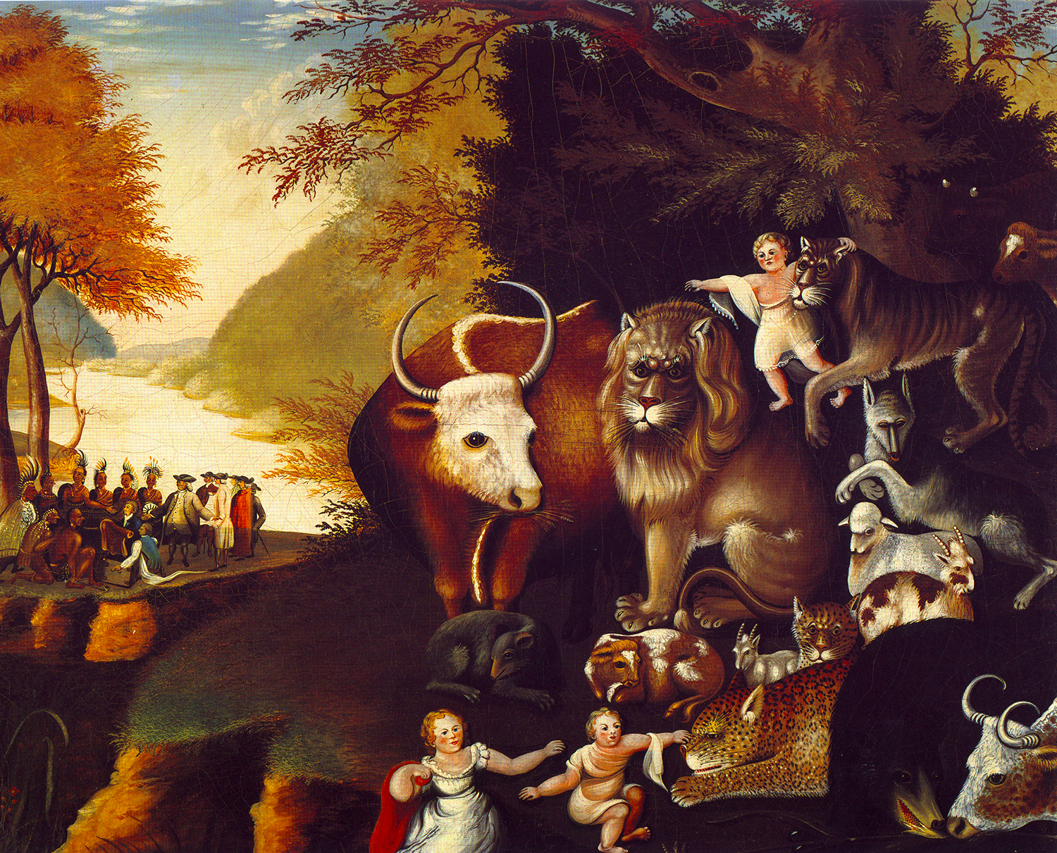 Edward Hicks,  The Peaceable Kingdom , The National Gallery, Washington, D.C.