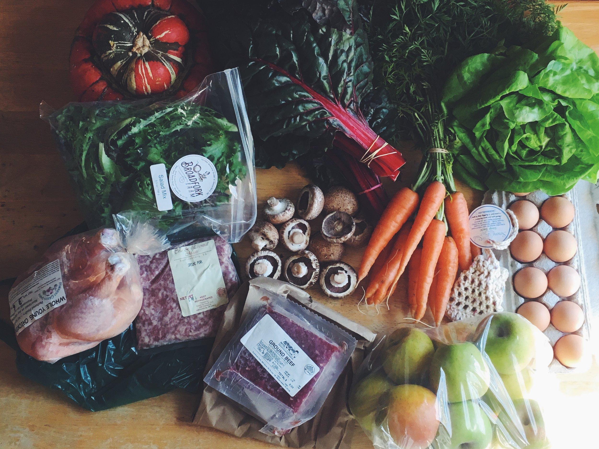Online farmers market haul by Mary Delicate