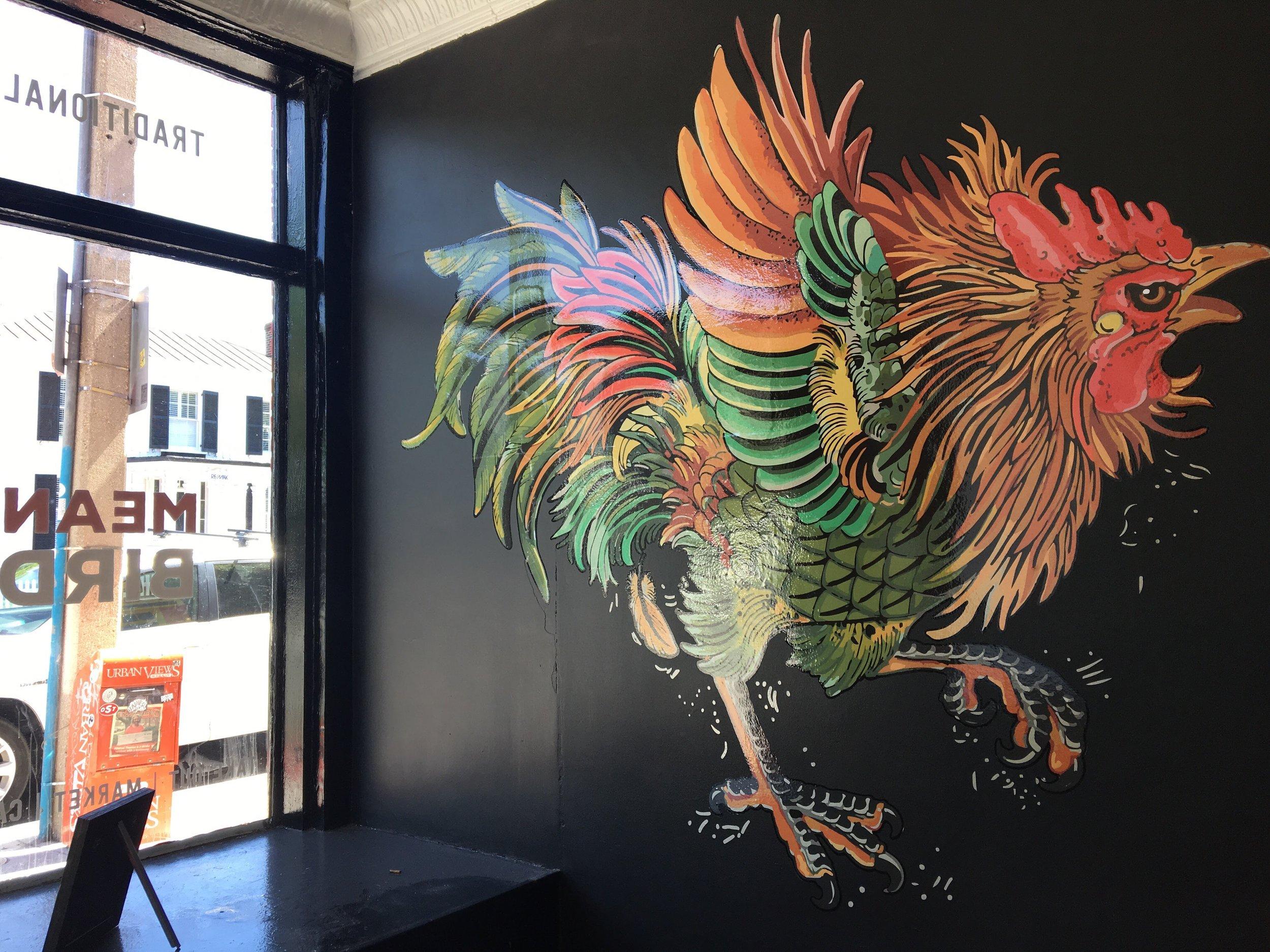 The bird is mean, but the chicken is niiiiice.