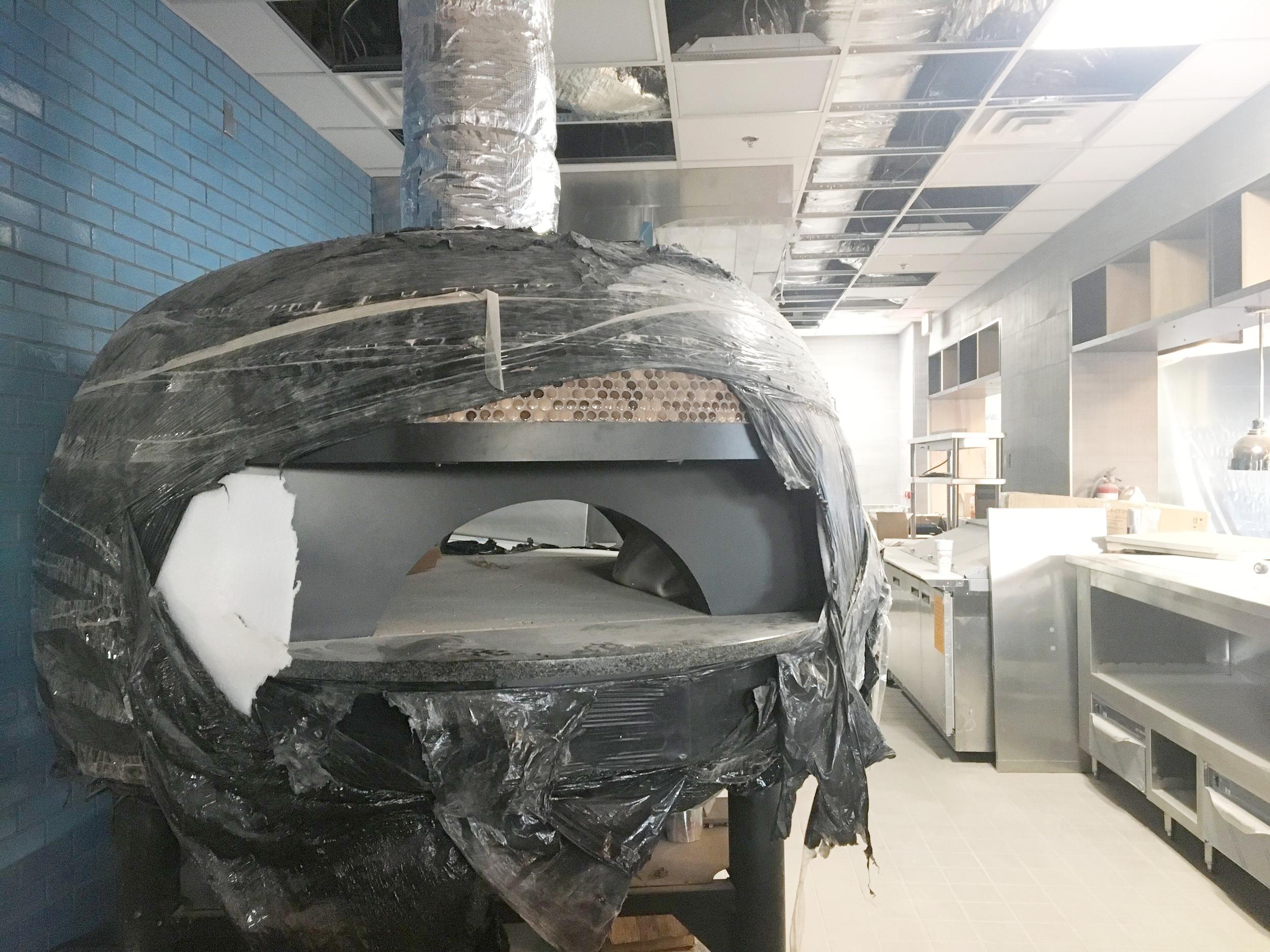 I spy a shiny new oven...