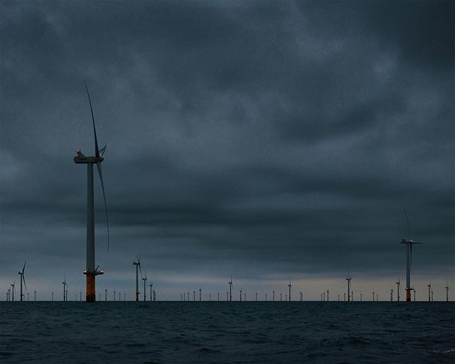 Coming soon. New work with @jontytacon featuring the off-shore wind farm 8 miles off the coast of Brighton. #rampion #windpower #photography #sustainableenergy