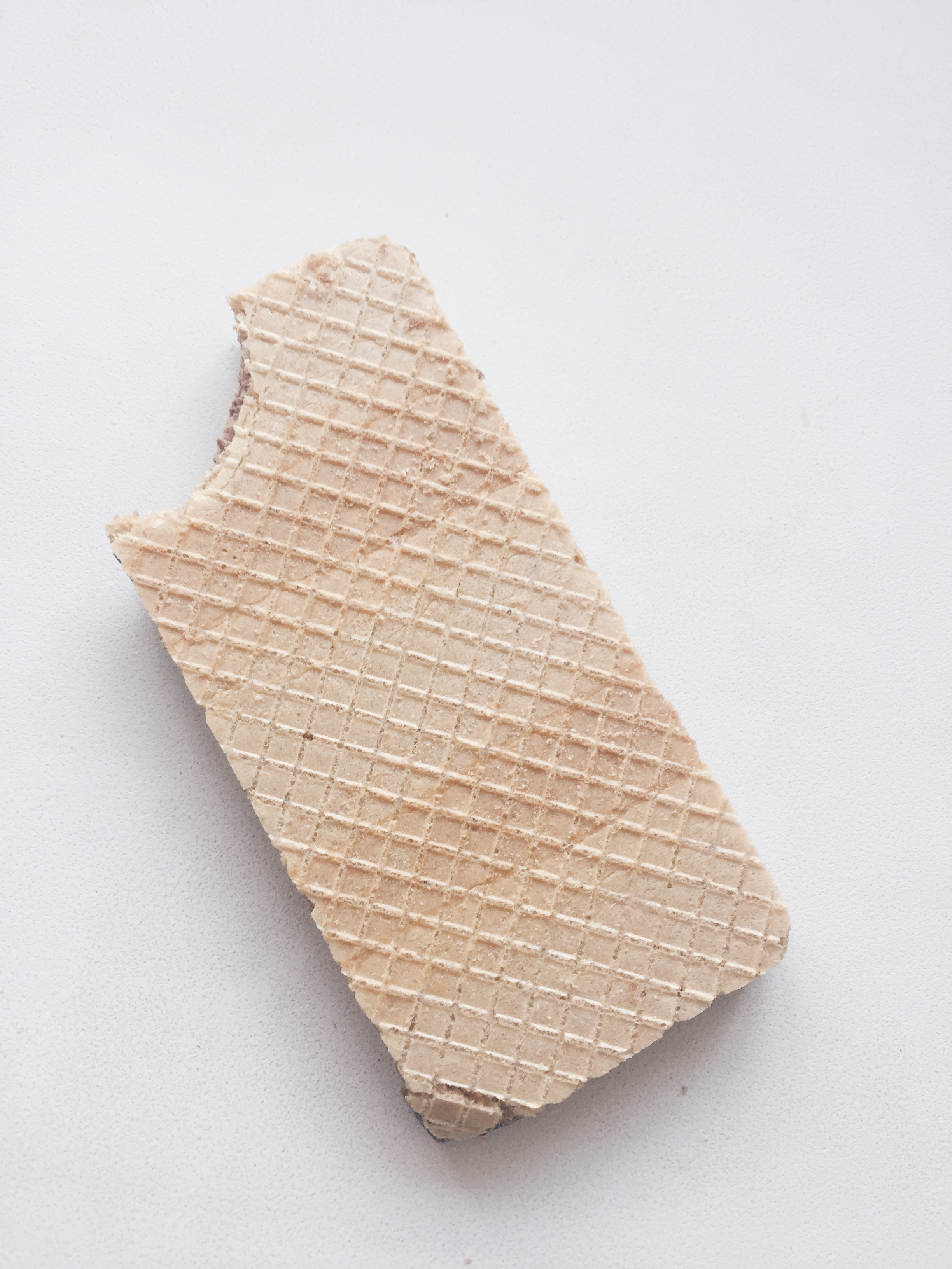 A chocolate filled wafer.