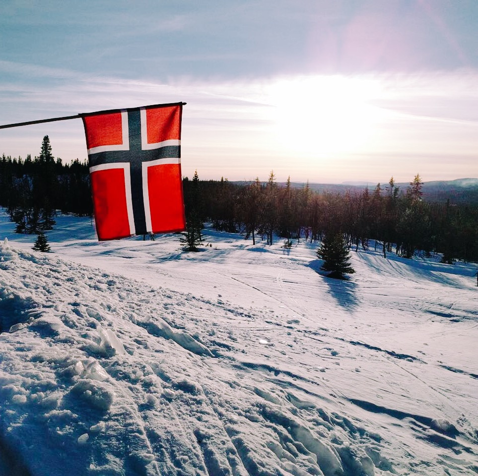 Påske 2016 taken by my brother, Brendan, from our hytte's porch.