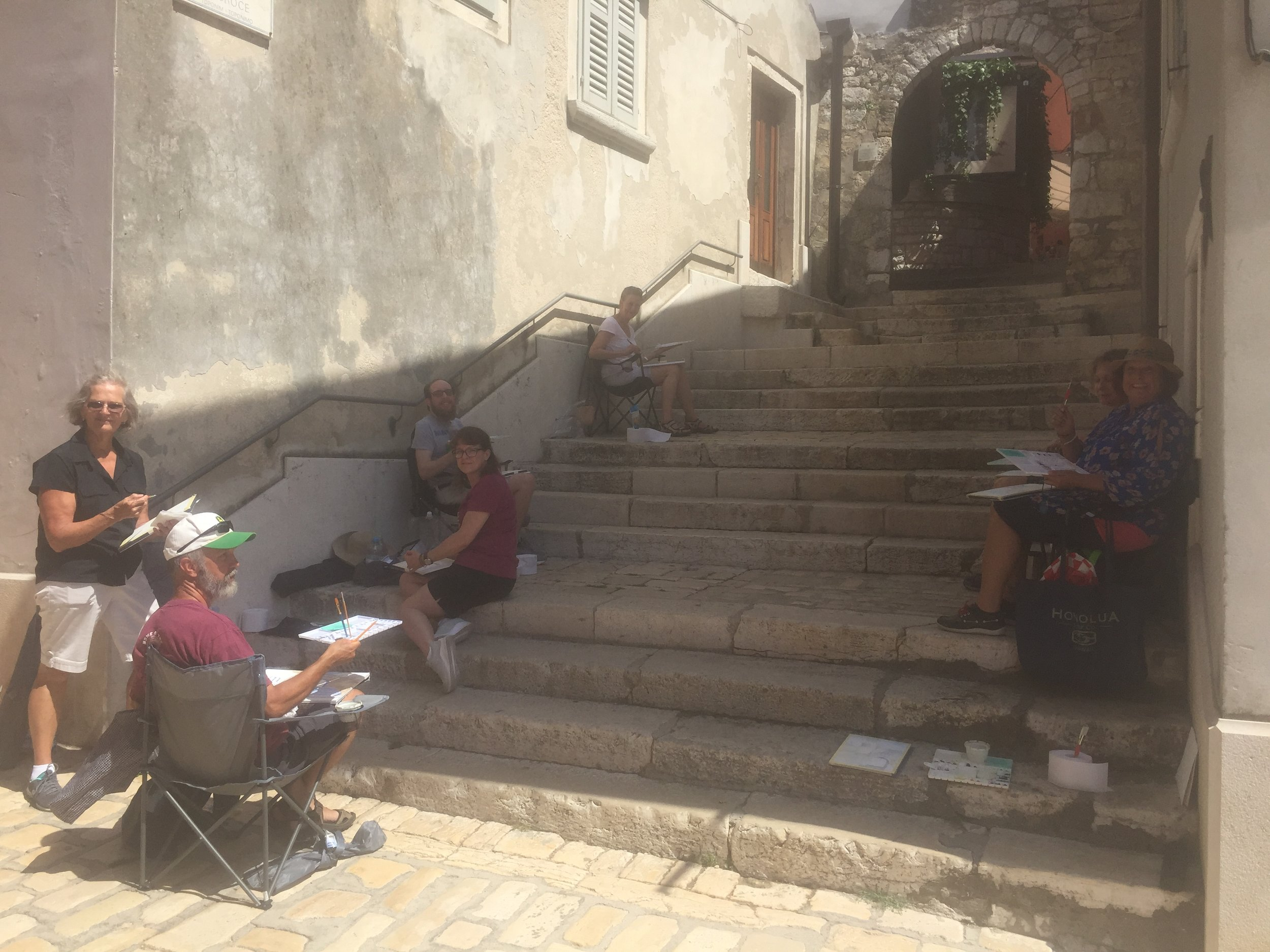 Painting in Rovinj, Croatia in 2017