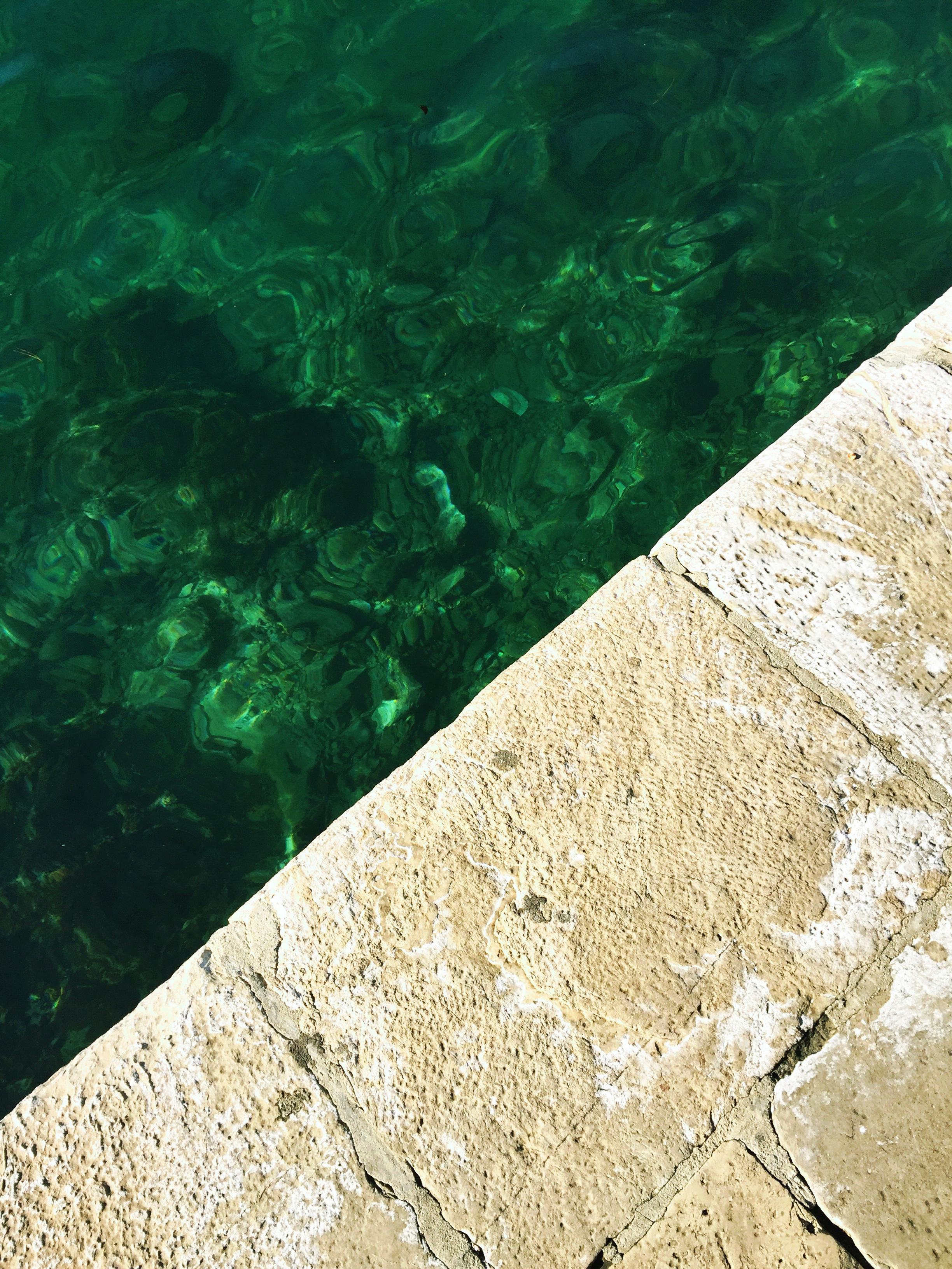beautiful emerald-hued water
