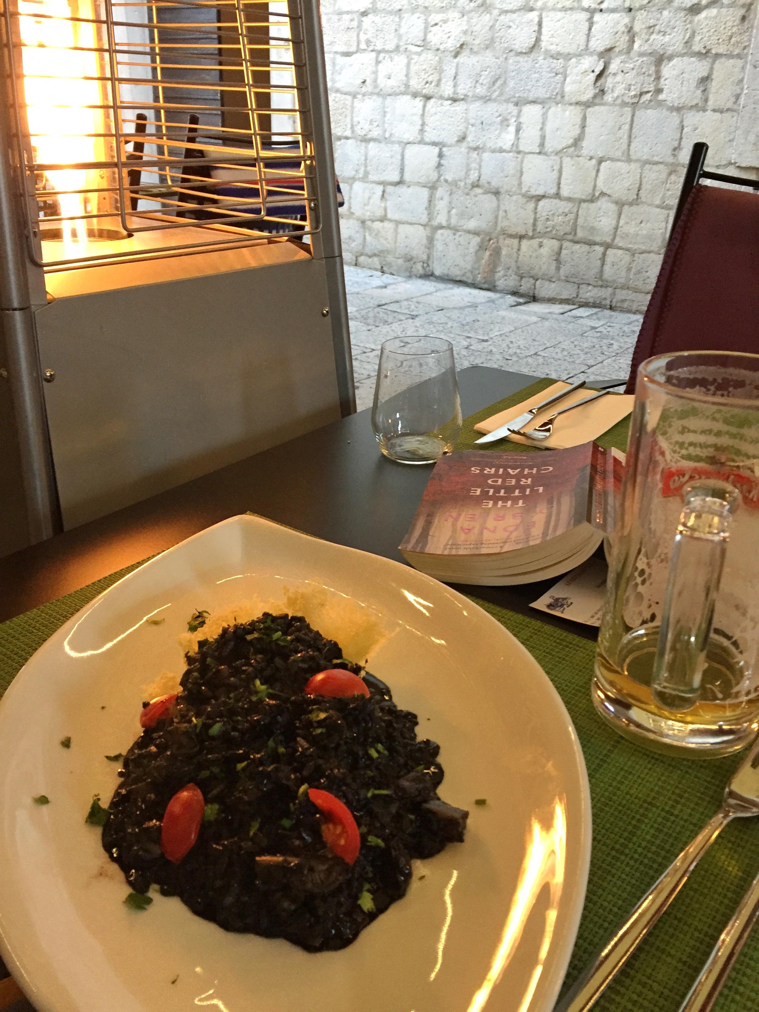 black risotto at Bistro Tavulin (Dubrovnik)