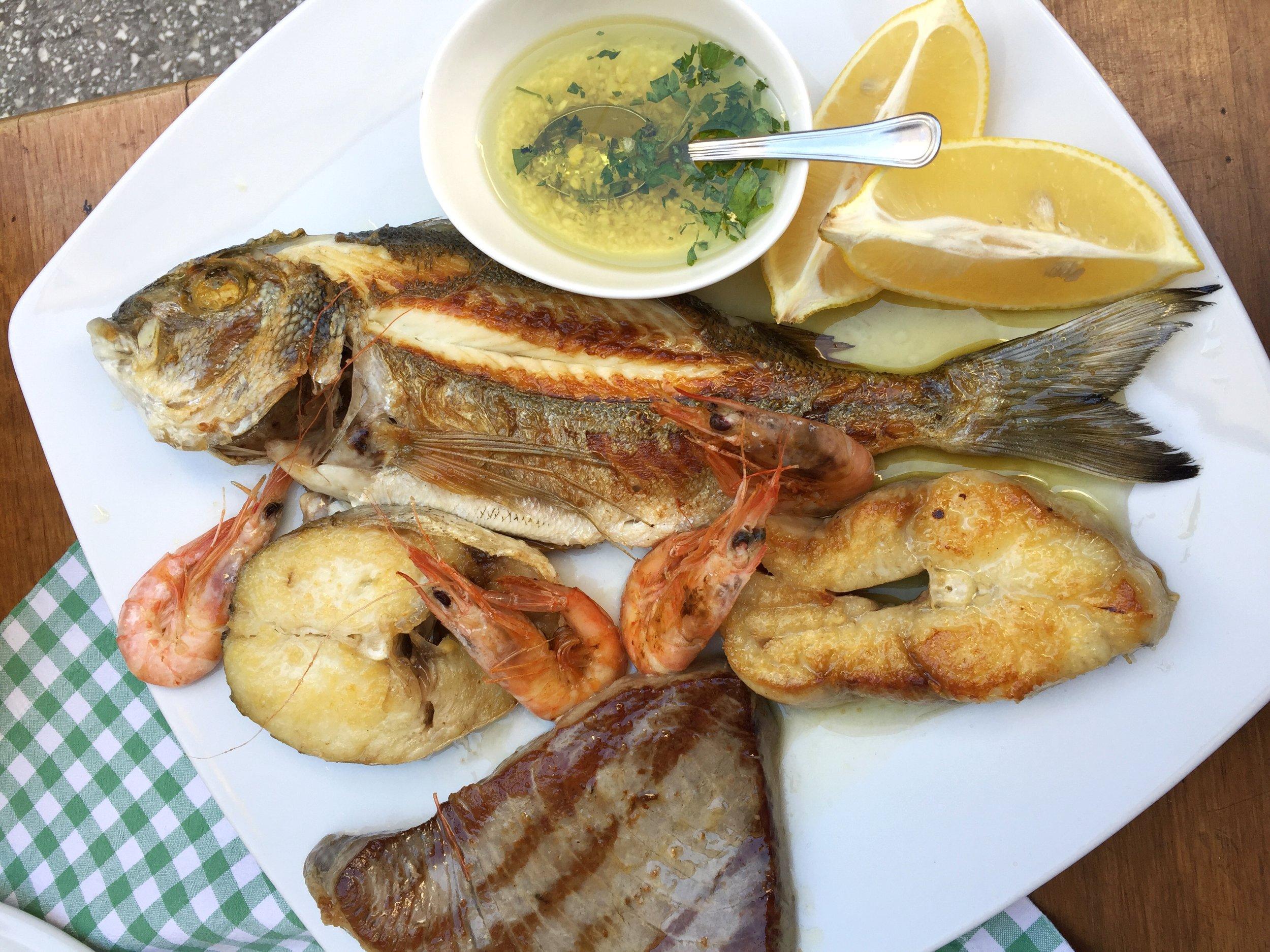 fresh fish at Konoba Marjan (Split)