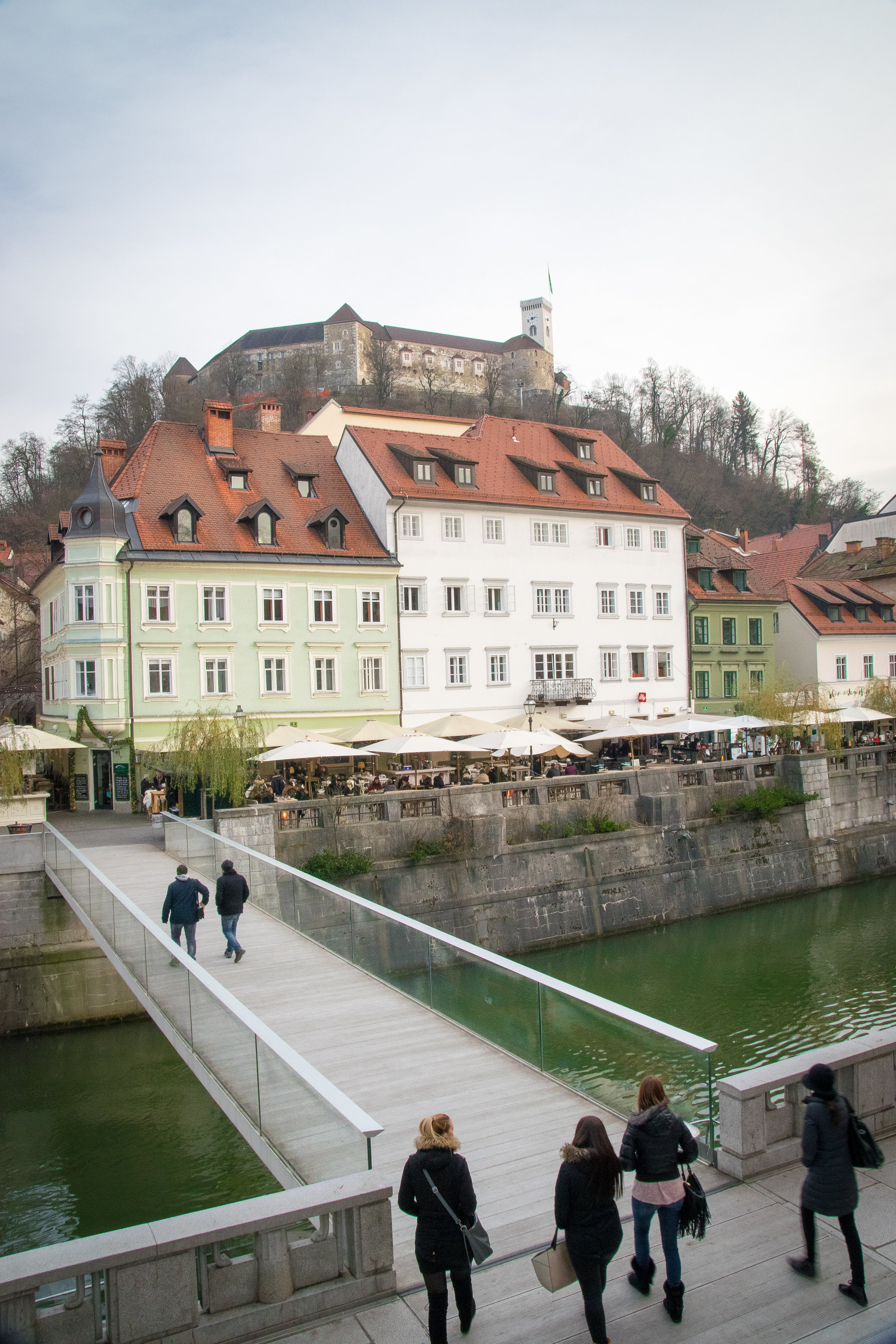 the castle looks over Ljubjlana