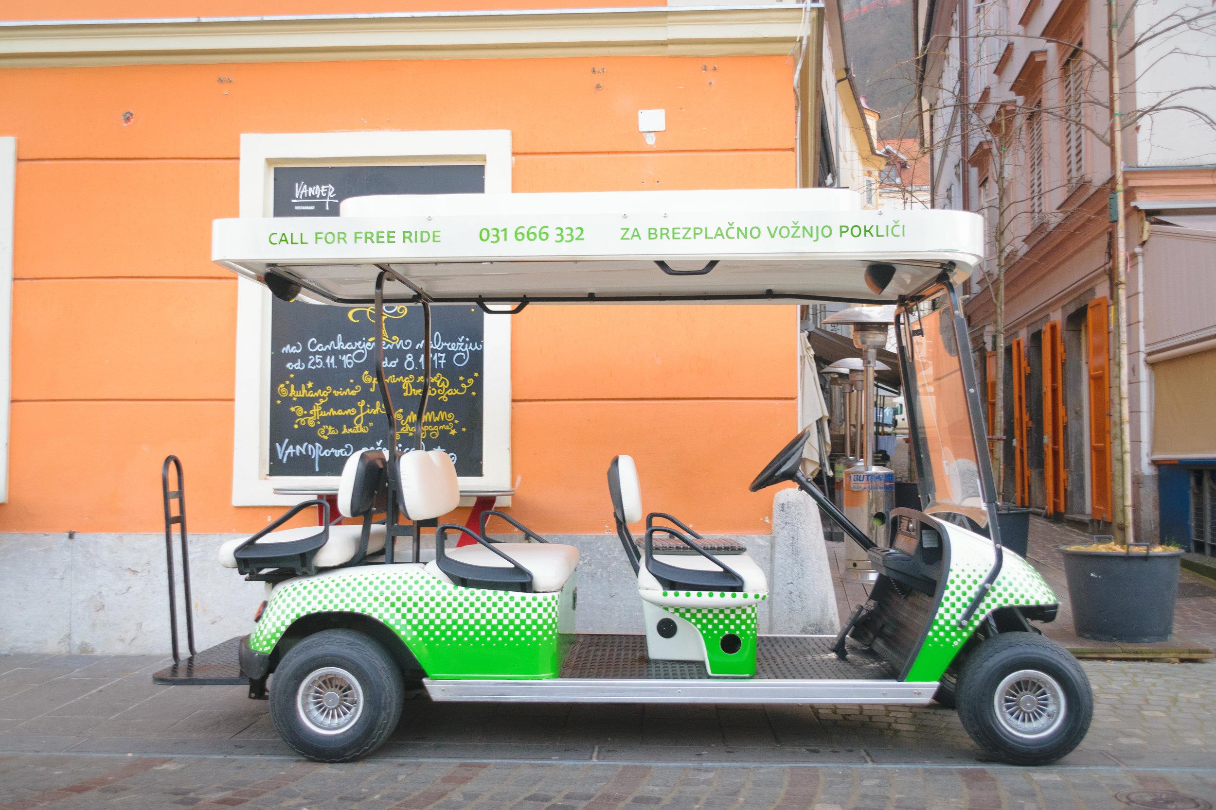 free, electric Kavalir taxi service