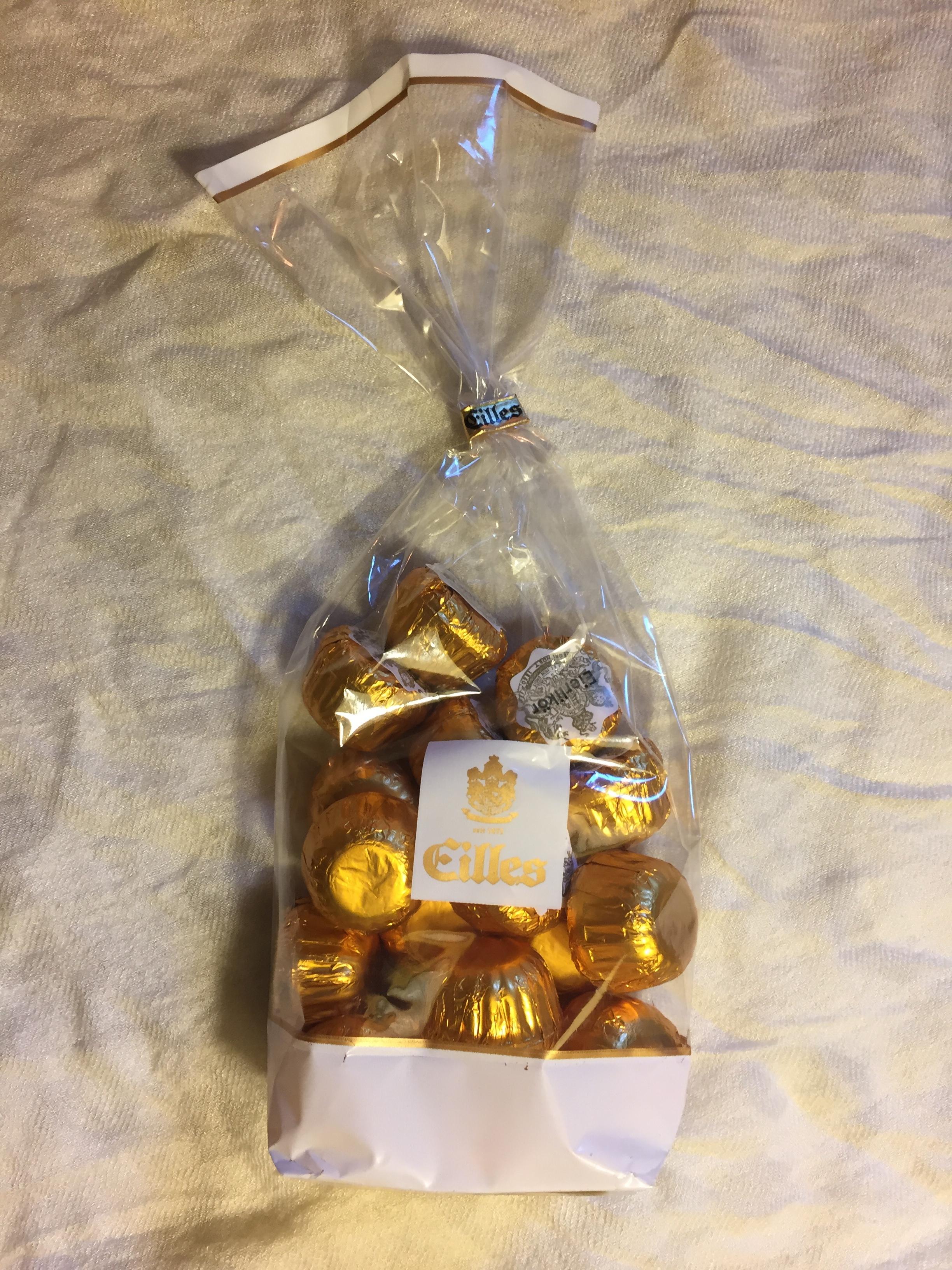 eggnog-filled chocolates