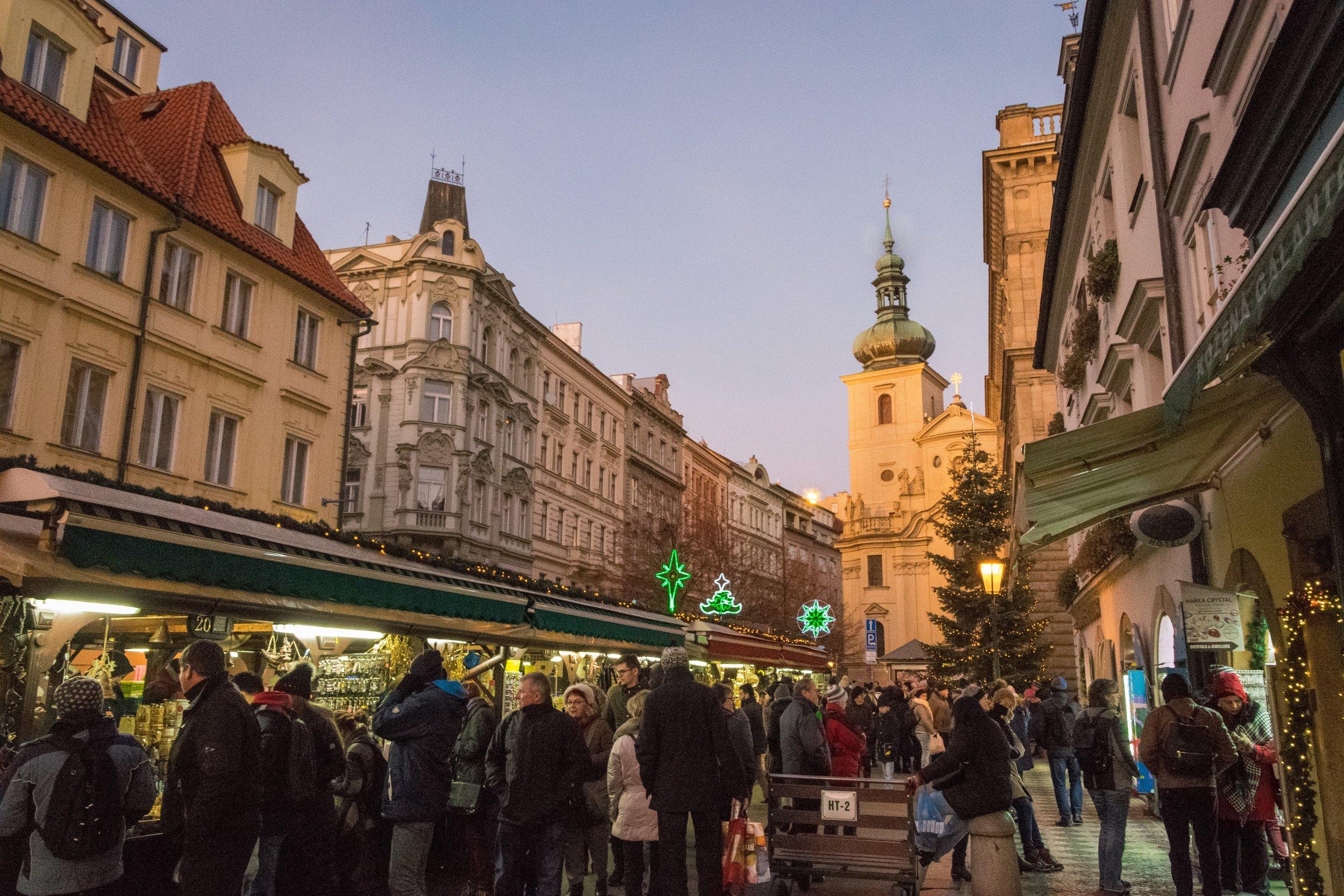at Havel's Market (Havelske trziste)