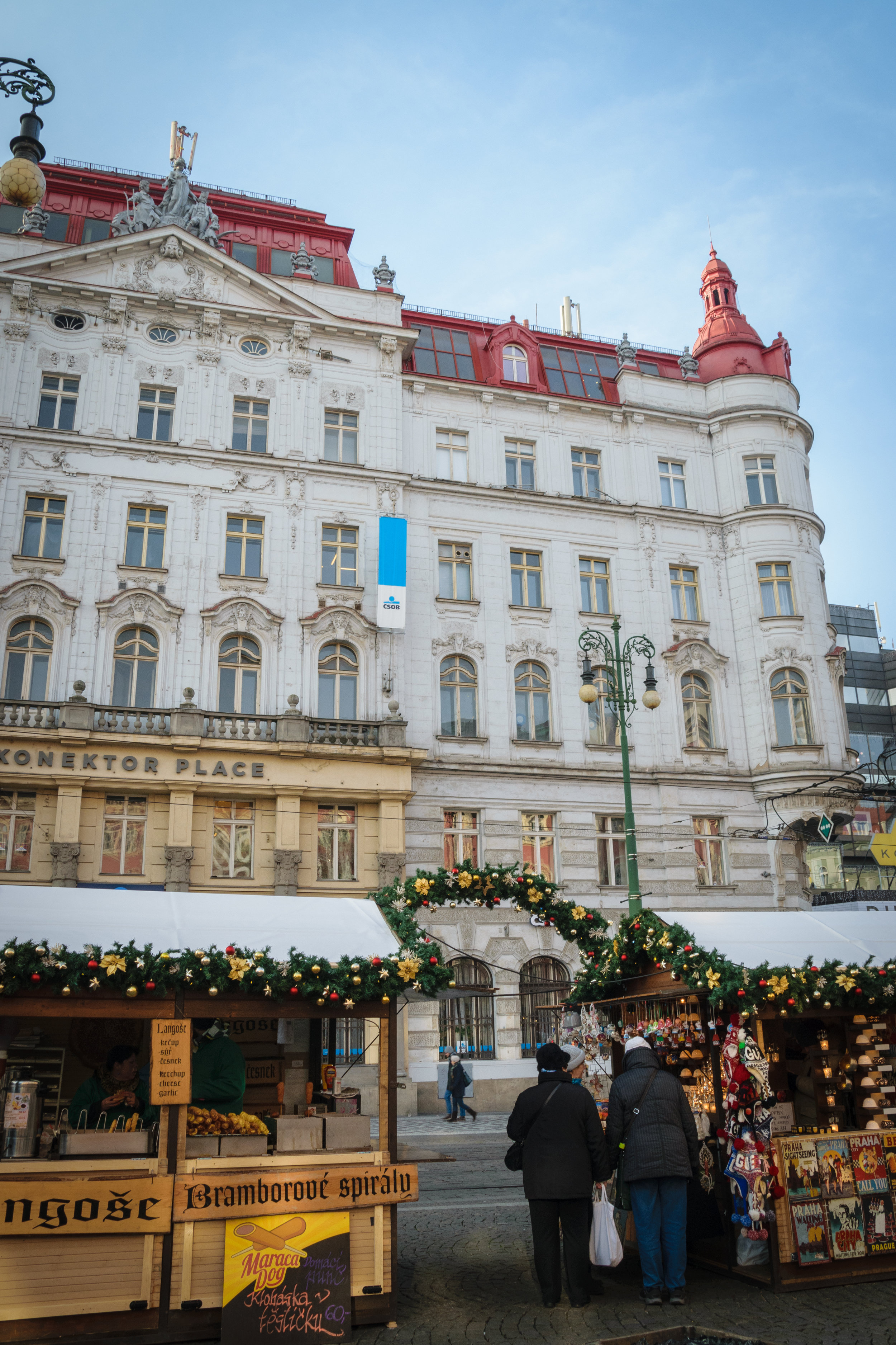 at Wenceslas Square (Václavské náměstí)