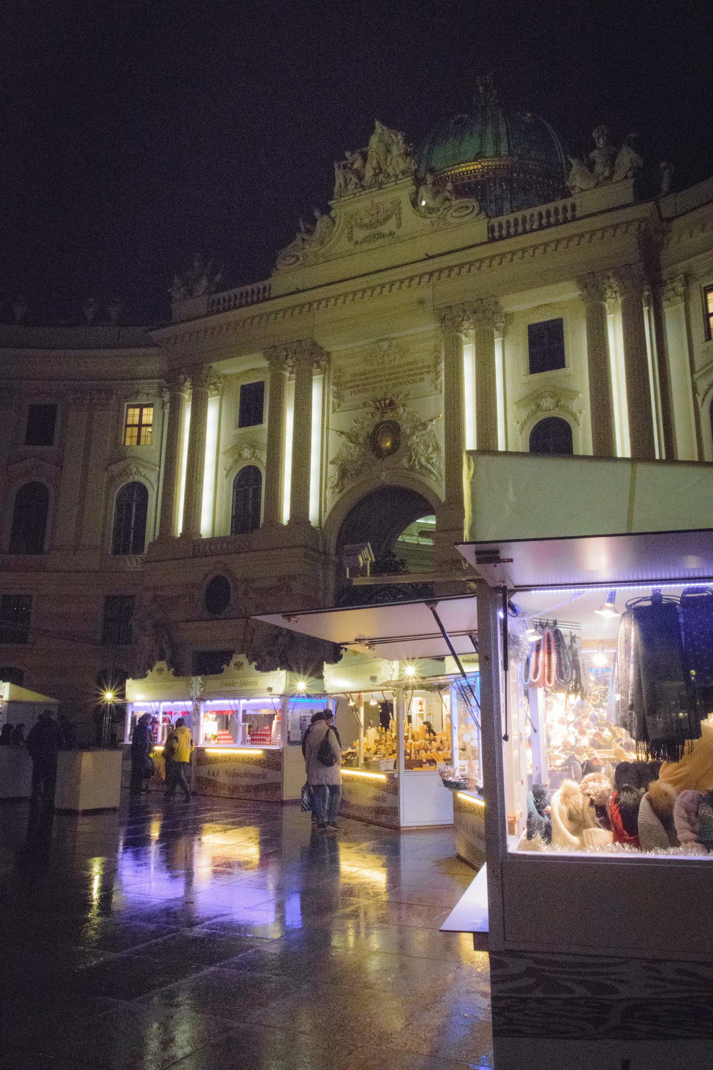 outside of the Hofburg Palace