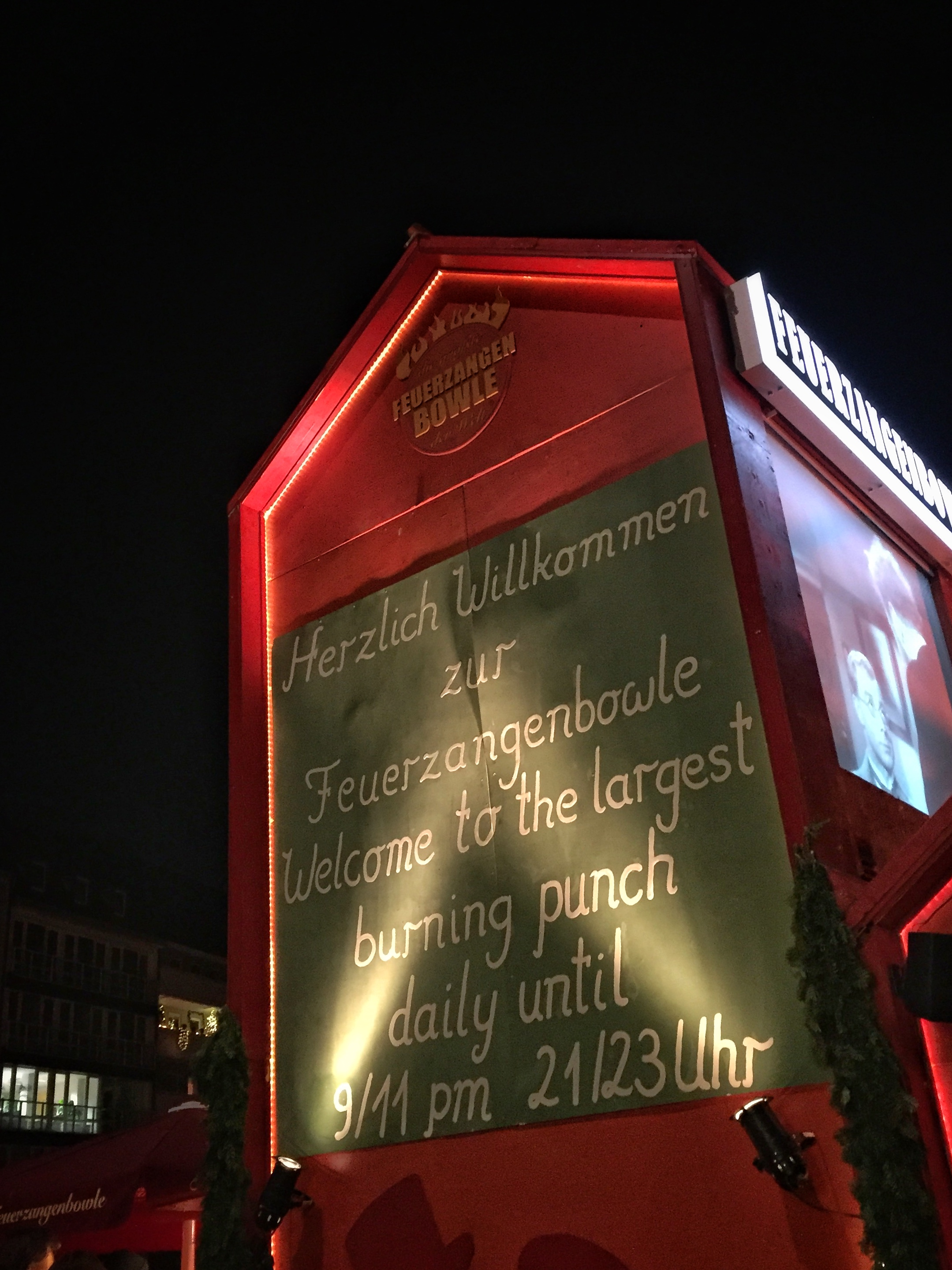 the wildly popular feuerzangenbowle ('burning punch')