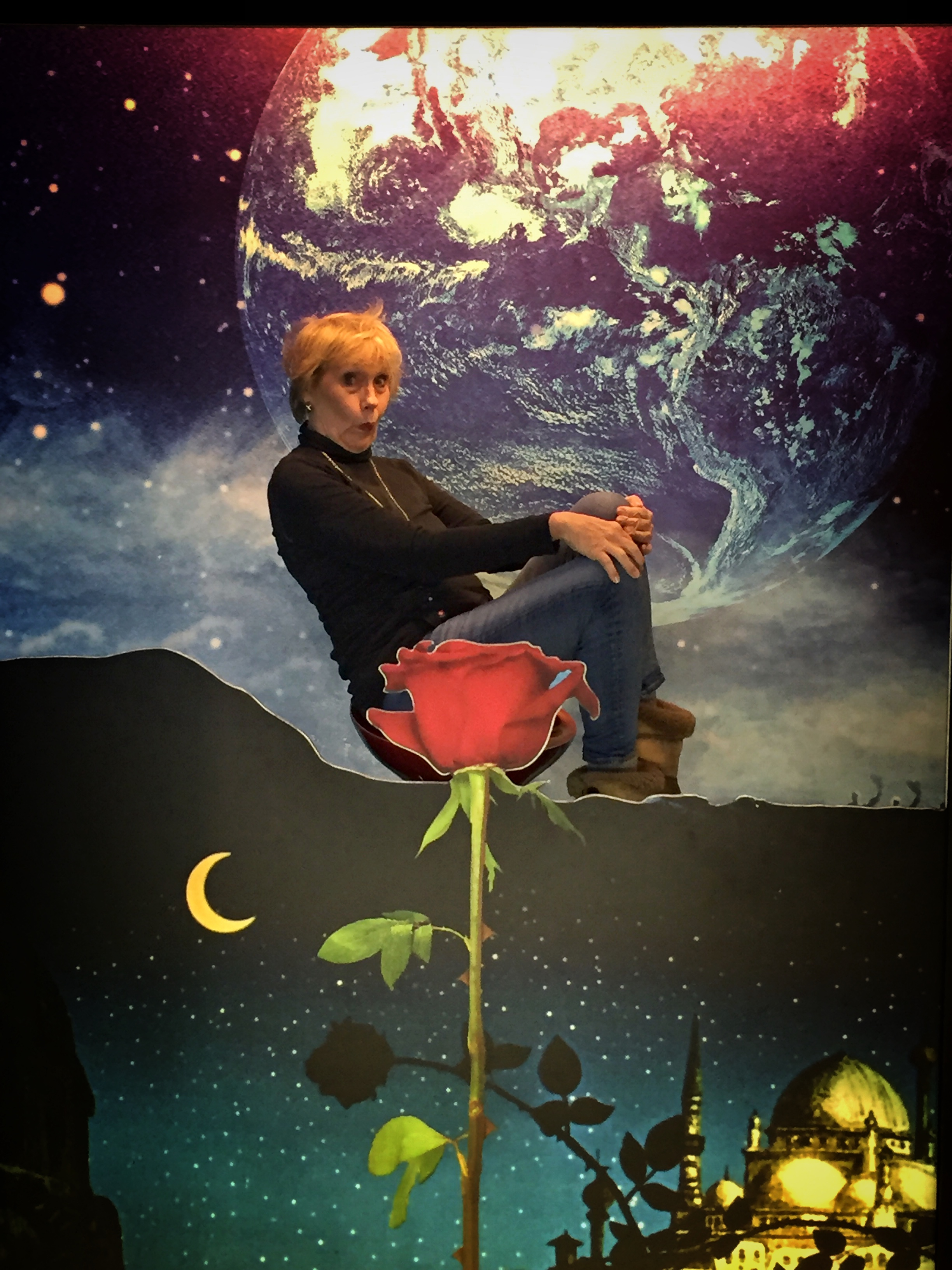 having (too much) fun on the moon rose