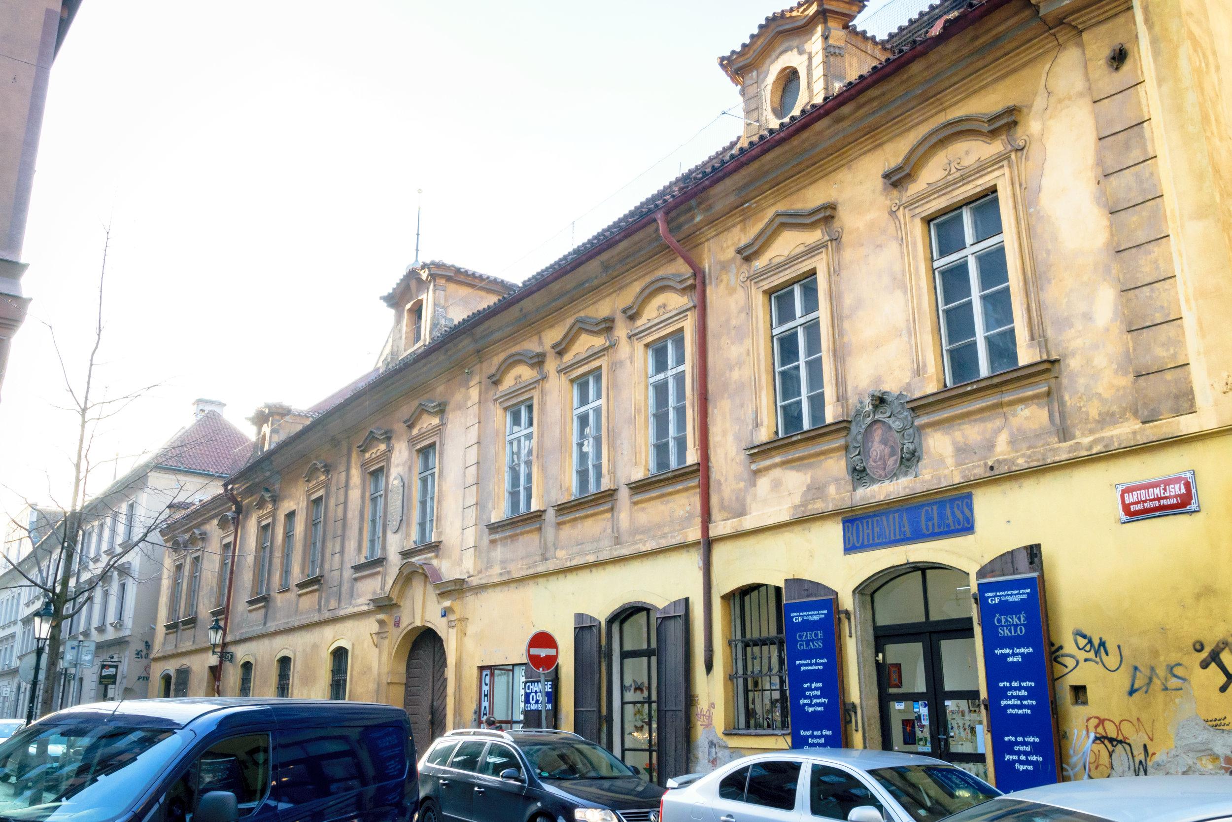 former headquarters of the Czech secret police (Bartolomějská)