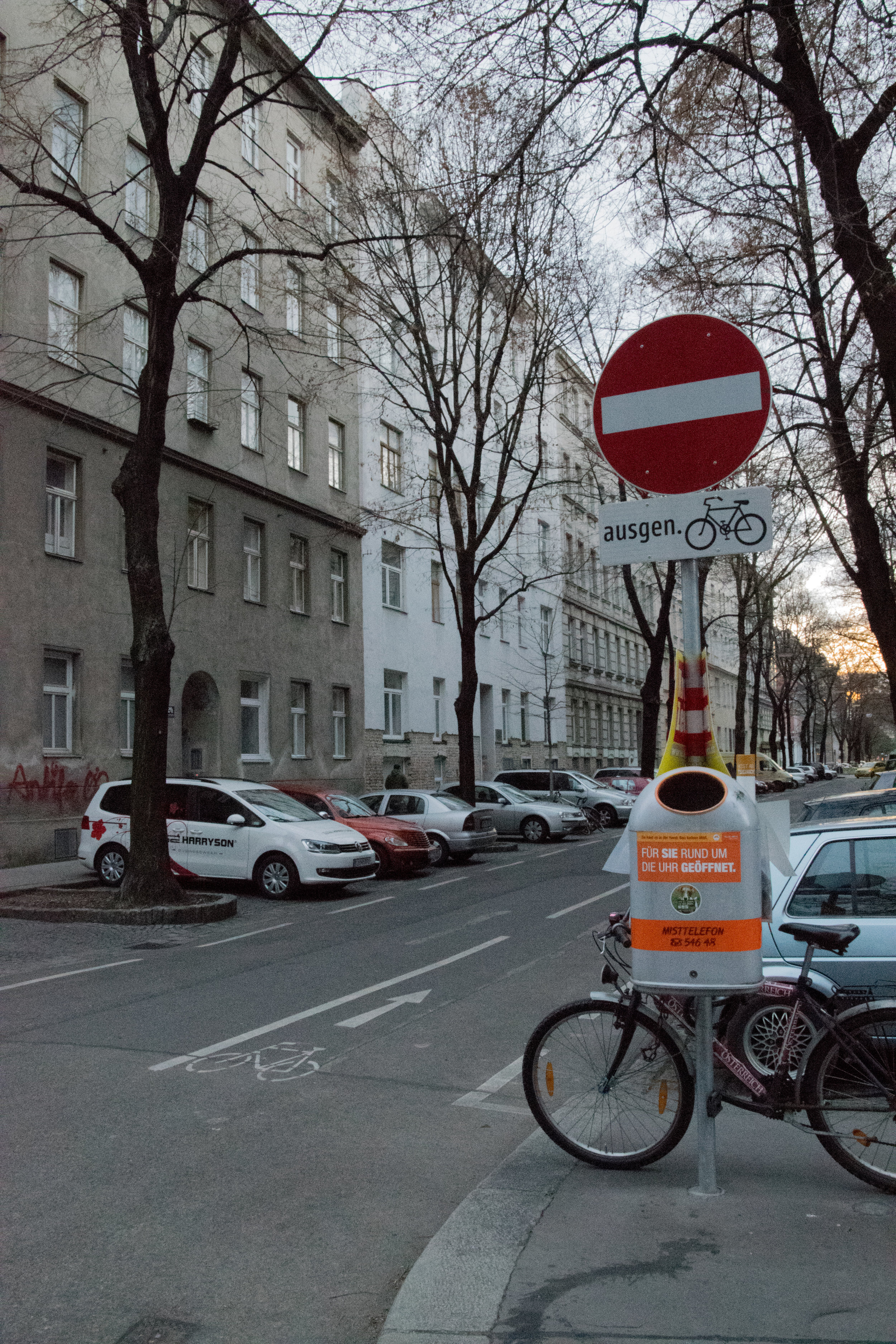 bikes can ride against the traffic on a one-way street