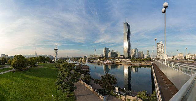 view of Donau City (photo credit: Hubertl)