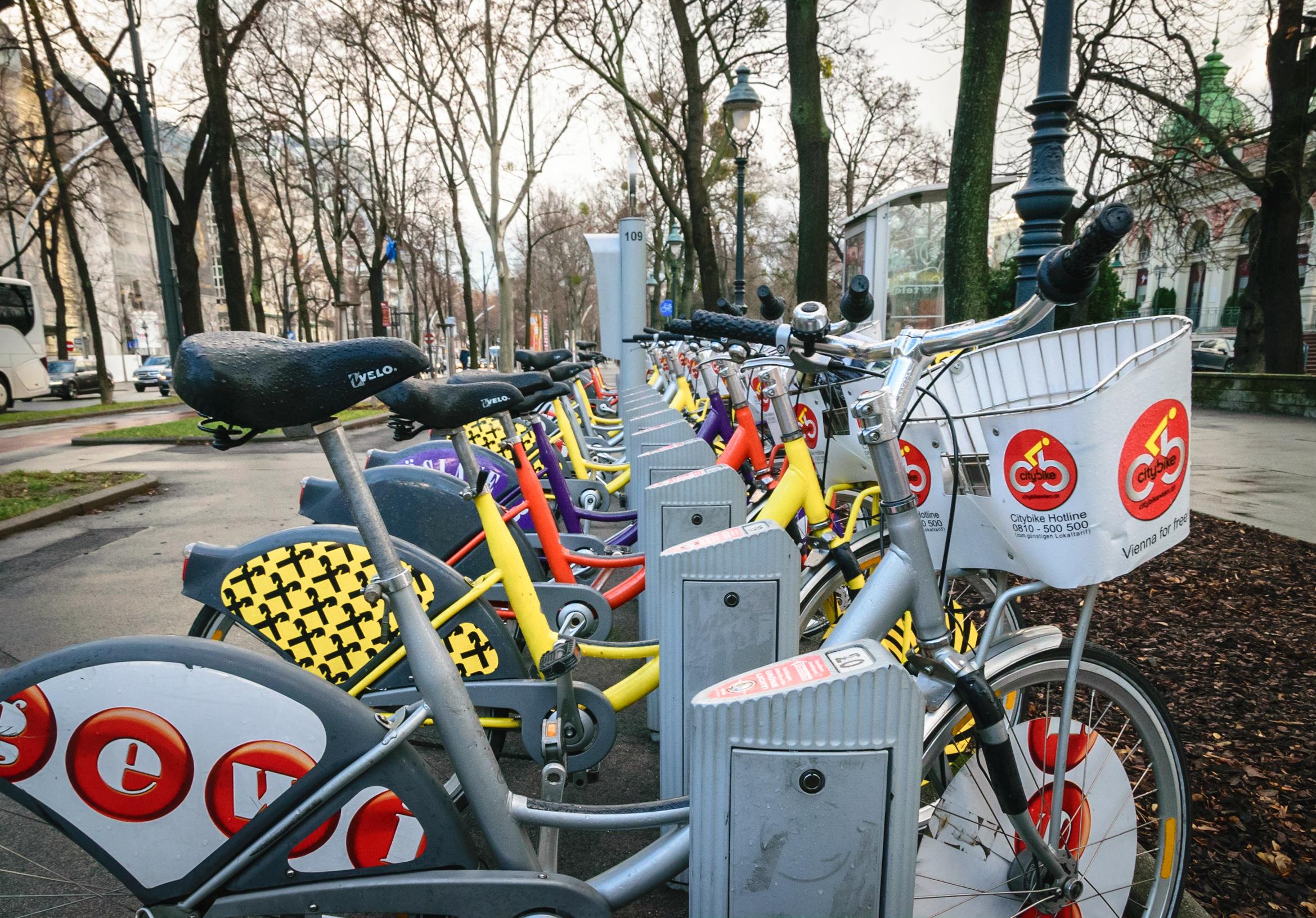 the city's colorful bikeshare program