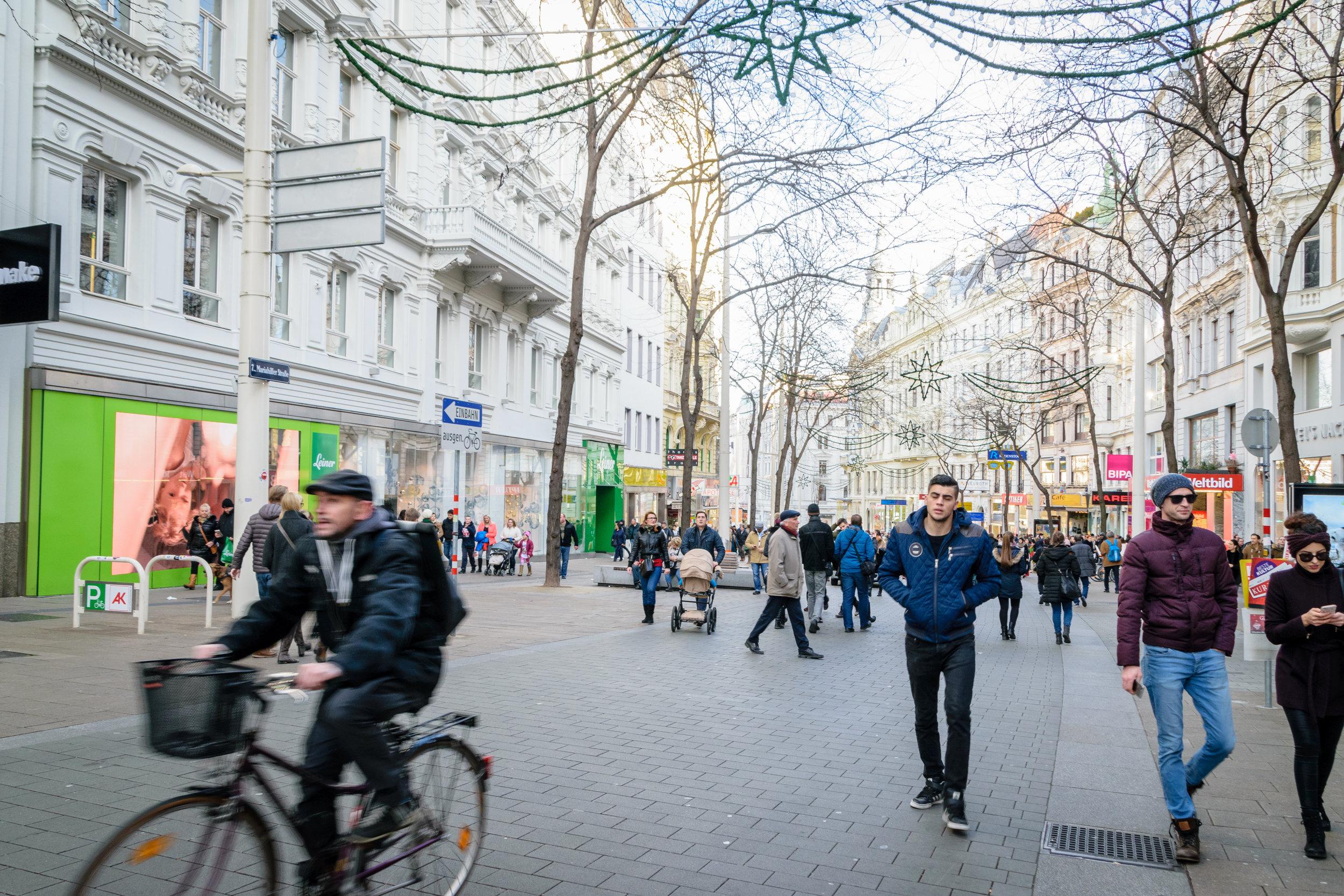 Kärntner Strasse pedestrian zone