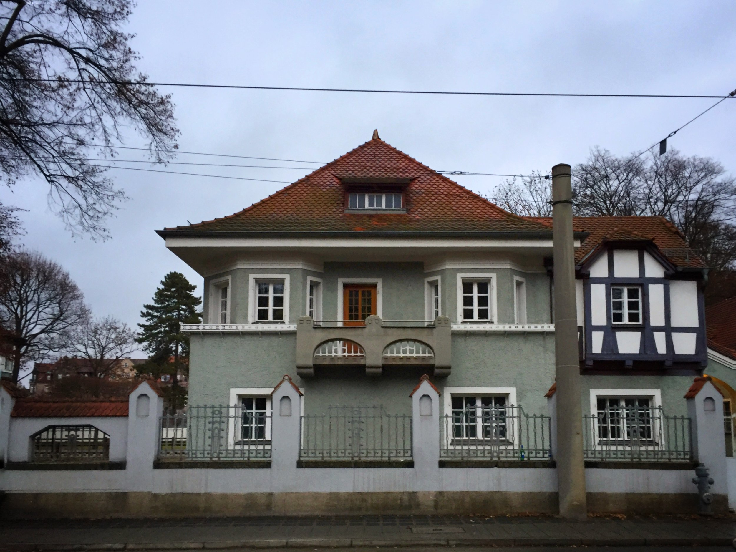 interesting house near the old town