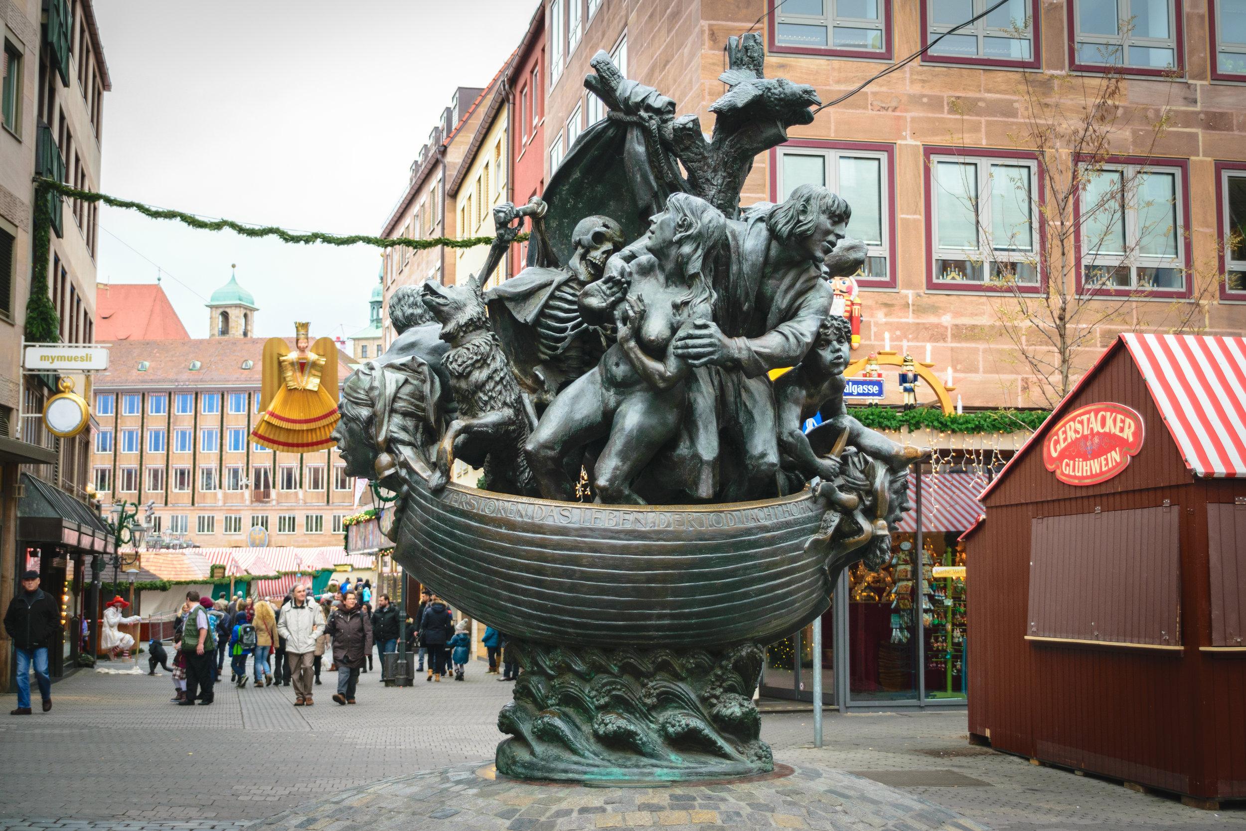 'Ship of Fools' sculpture
