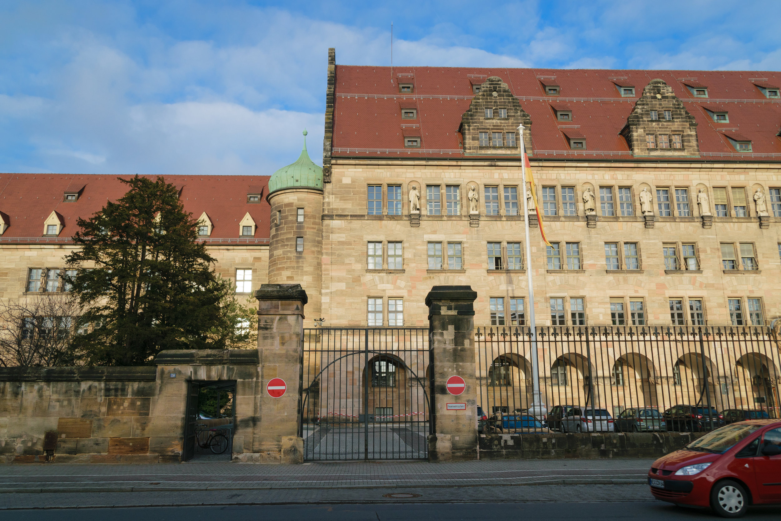 part of Justizpalast where Nuremberg trials occurred