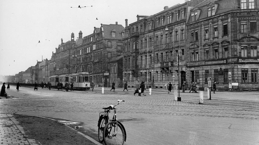 Fürther Straße in 1944 (photo credit: Bayerischer Rundfunk)
