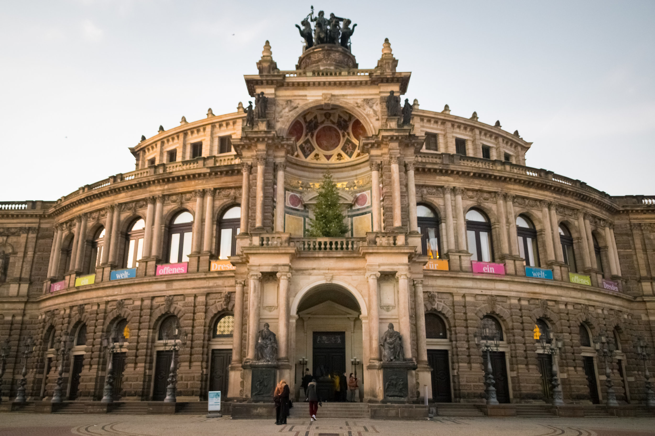 Semperoper, grand 19th-century opera house rebuilt during the Communist era
