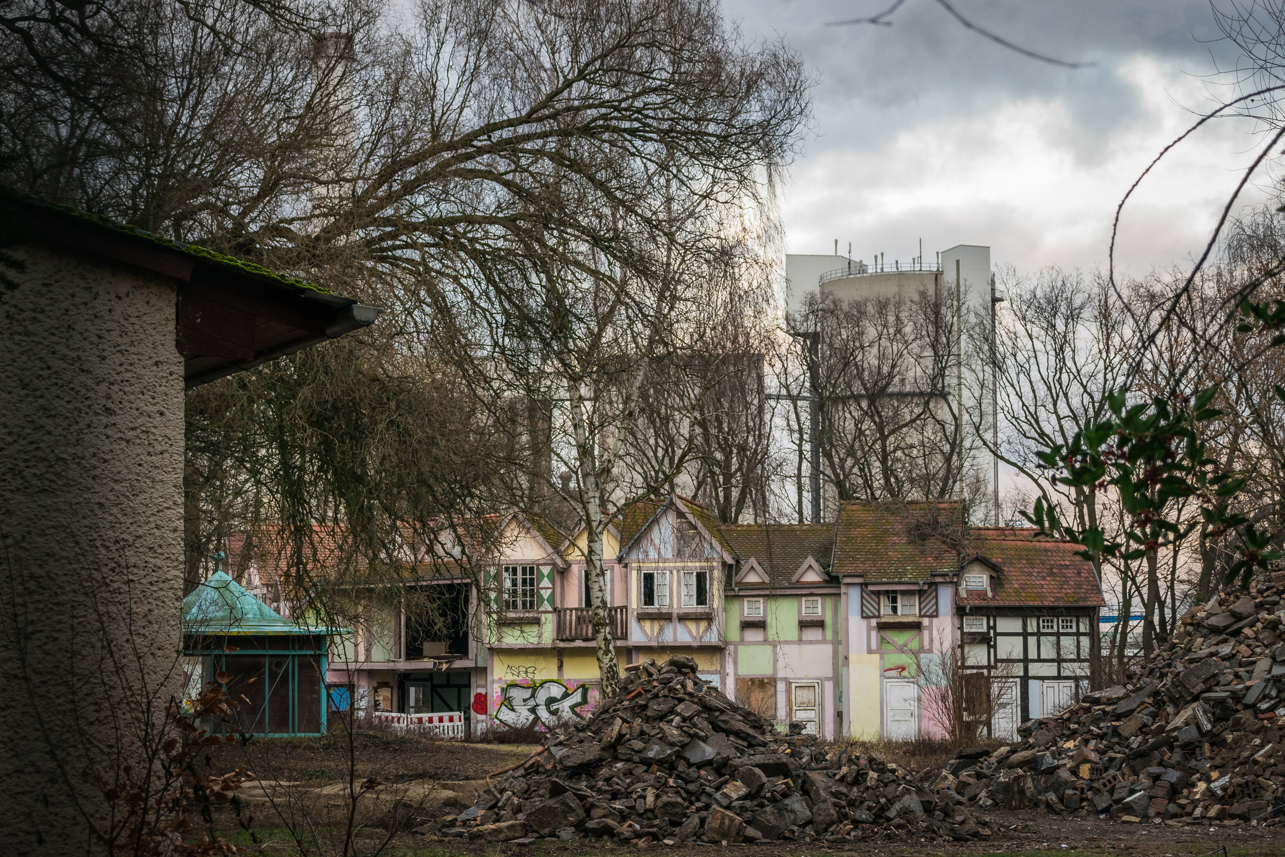 the poor faux village that suffered arson