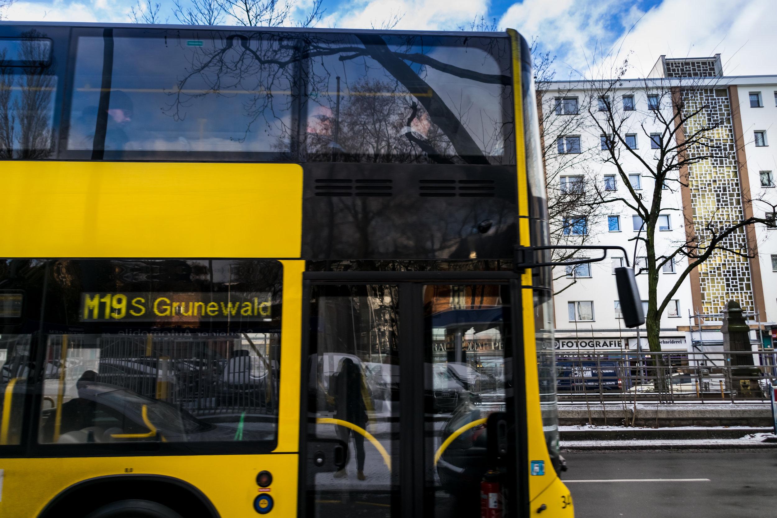 loving the double decker public buses
